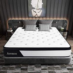 Queen Mattress, Avenco Hybrid Mattress Queen, 10 Inch Innerspring and Gel Memory Foam Mattress i ...