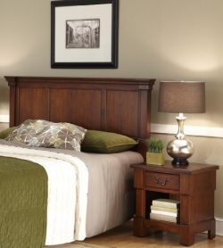 Aspen Rustic Cherry Queen Headboard & Night Stand by Home Styles